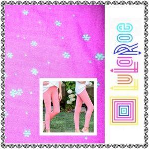 {LuLaRoe} TWEEN leggings, pink mini floral print